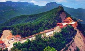 香山寺俯视图美景摄影图片
