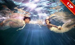 水下主题摄影PSD婚纱写真模板V1