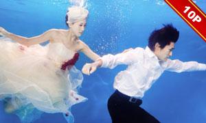 水下主题摄影PSD婚纱写真模板V2