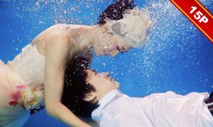 水下主题婚纱创意摄影影楼样片