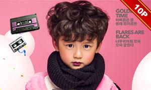 潮范主题儿童人物摄影相册模板集V3