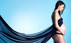 秀发孕妇美女人物写真摄影高清图片