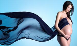 秀发妆容孕妇人物写真摄影高清图片