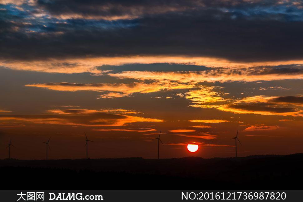高清大图图片素材摄影自然风景风光太阳阳光云层云彩多云天空日落夕阳