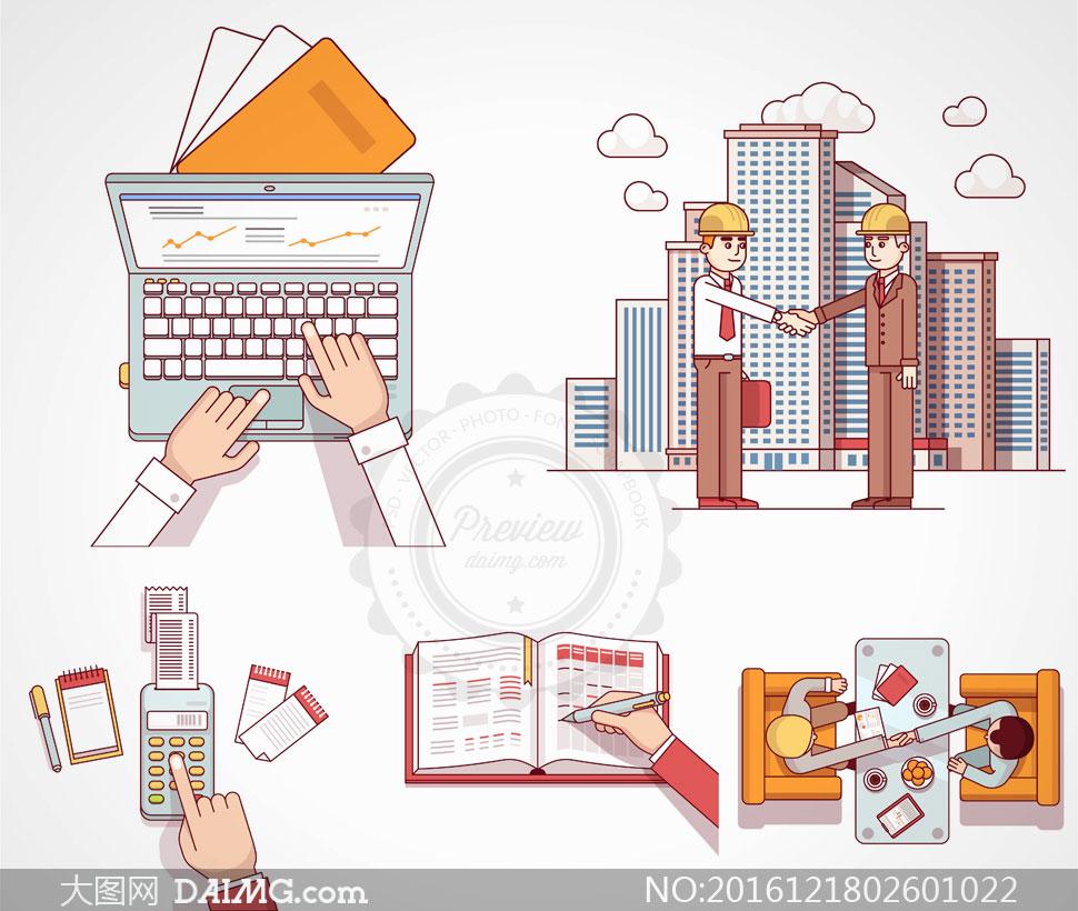 矢量素材 其他杂类 > 素材信息          站在书本上的人物创意设计图片