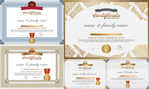 多种多样的授权书与证书等素材V40