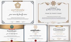 多种多样的授权书与证书等素材V41