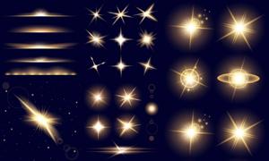 光源光效与耀眼光斑等元素矢量素材