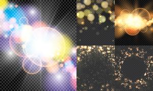 耀眼光效元素创意设计矢量素材集V1