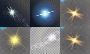 耀眼光效元素创意设计矢量素材集V2