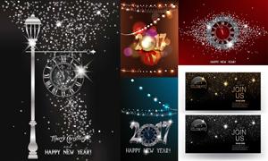 星光装饰元素圣诞新年主题矢量素材