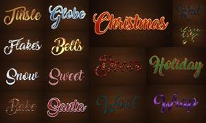 15款圣诞节主题艺术字设计PS样式