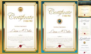 多种多样的授权书与证书等素材V50