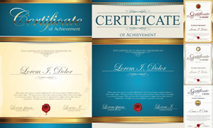 多种多样的授权书与证书等素材V52