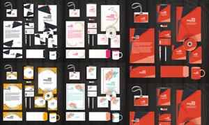 企业视觉系统元素装饰图案矢量素材