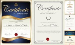 多种多样的授权书与证书等素材V54