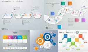 操作流程信息图表创意设计矢量素材