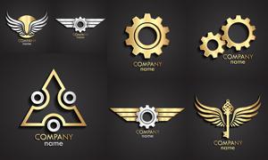 金属质感效果标志创意设计矢量素材