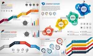 企业大事记时光轴信息图表矢量素材