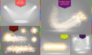 耀眼夺目光效创意元素矢量素材集V4