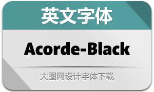Acorde-Black(英文字体)