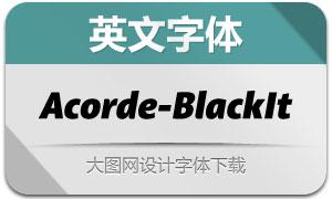 Acorde-BlackItalic(英文字体)