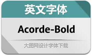 Acorde-Bold(英文字体)