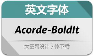 Acorde-BoldItalic(英文字体)