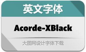 Acorde-Extrablack(英文字体)
