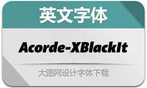 Acorde-ExtrablackItalic(英文字体)