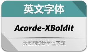 Acorde-ExtraboldItalic(英文字体)