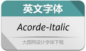 Acorde-Italic(英文字体)