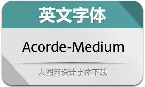 Acorde-Medium(英文字体)