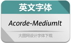 Acorde-MediumItalic(英文字体)