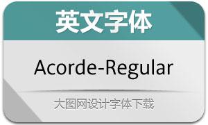 Acorde-Regular(英文字体)