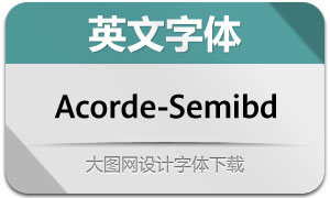 Acorde-Semibold(英文字体)
