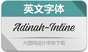 Adinah-Inline(英文字体)