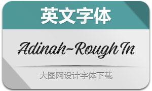 Adinah-RoughInline(英文字体)