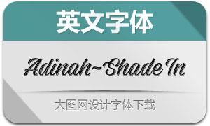 Adinah-ShadeInline(英文字体)