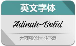 Adinah-Solid(英文字体)