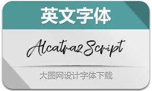AlcatrazScript系列两款英文字体