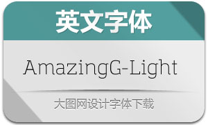 AmazingGrotesk-Light(英文字体)
