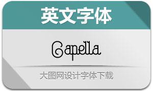 Capella系列4款英文字体