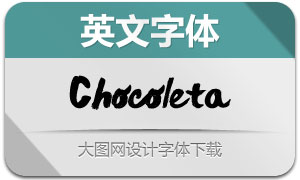 Chocoleta系列3款英文字体