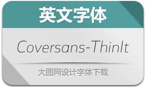 Coversans-ThinItalic(英文字体)