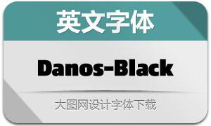 Danos-Black(英文字体)