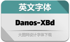 Danos-ExtraBold(英文字体)