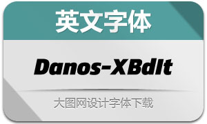 Danos-ExtraBoldItalic(英文字体)