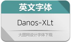 Danos-ExtraLight(英文字体)