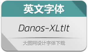 Danos-ExtraLightItalic(英文字体)